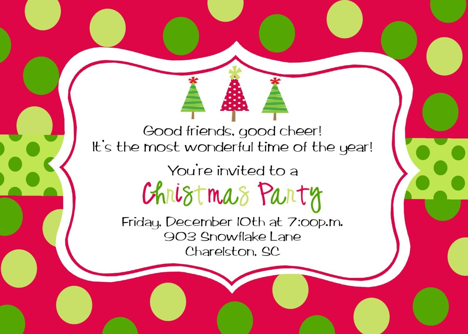 christmas brunch invitation template Christmas