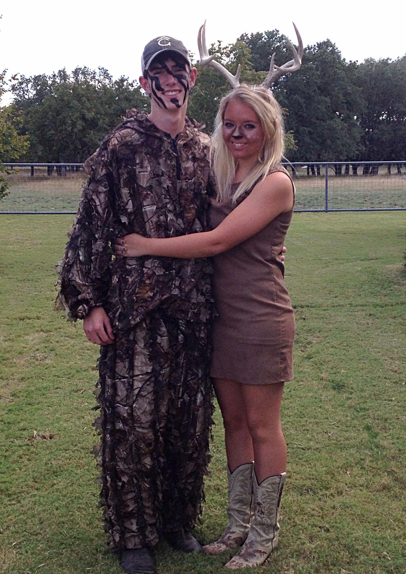 Hunter and deer couples costume) Halloween Pinterest