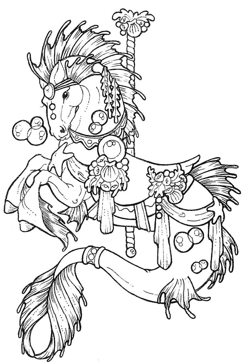 Carousel Coloring Pages Carousel coloring pages would