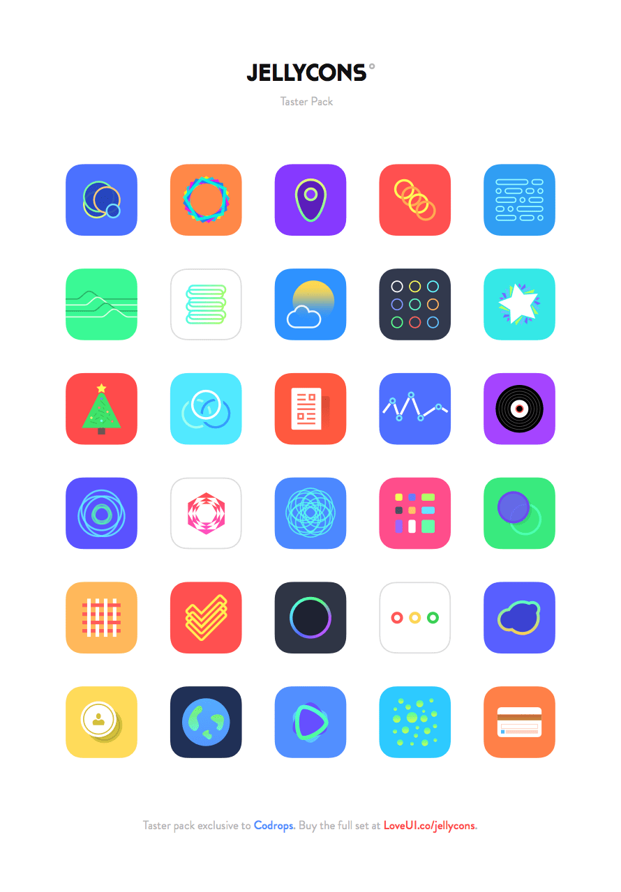 Freebie Jellycons iOS 8 App Icon Set App icon, Icons