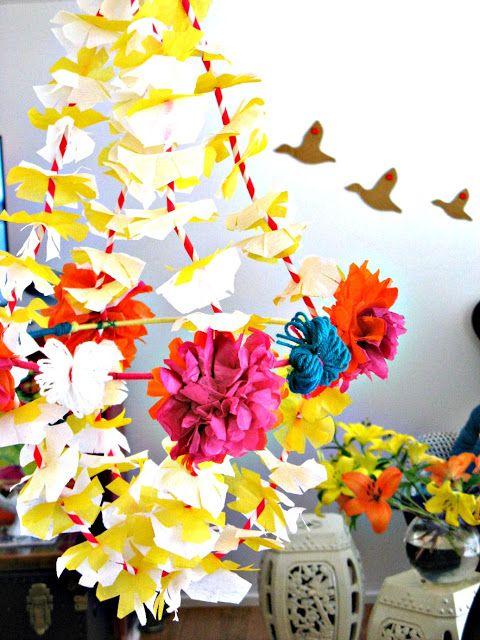 Vintage Movement Diy Pajaki Paper Chandelier Tissue Pom Magic