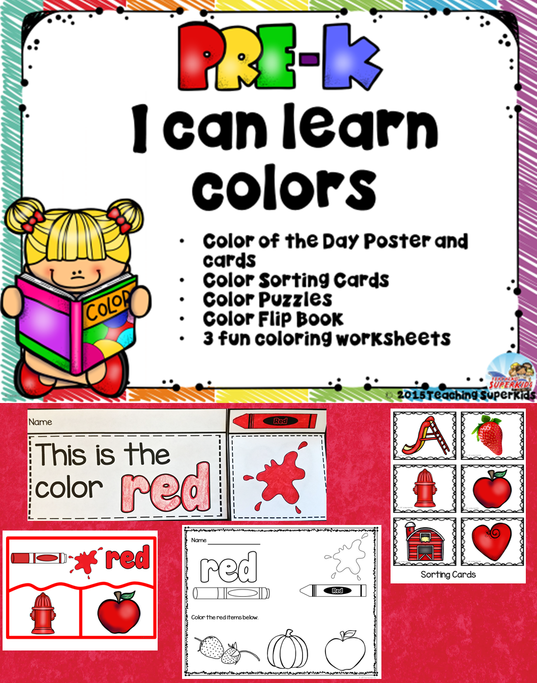 Preschool Color Activities Pre K Learn About Colors