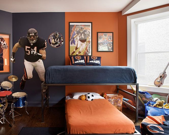 Bedroom Fabulous American Football Themed Decorating Idea For Age Boys In Shining Accessories
