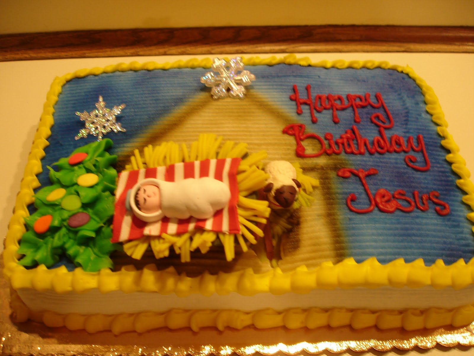Nativity Cake Happy Birthday Jesus cakes Pinterest