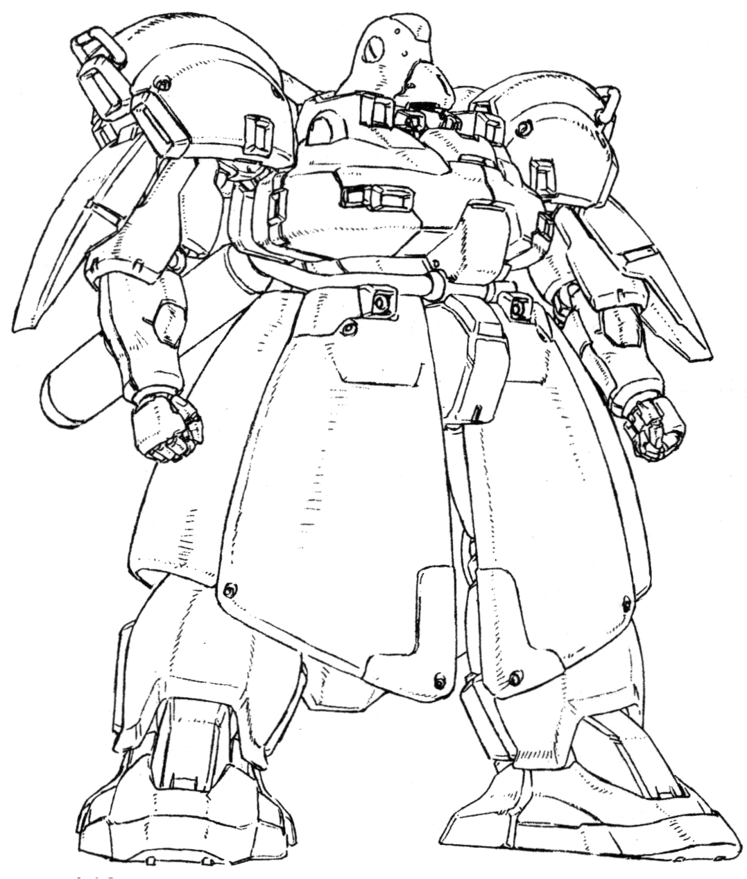 The Pmx 005 Breda Is A Land Based Mobile Suit Variant Of