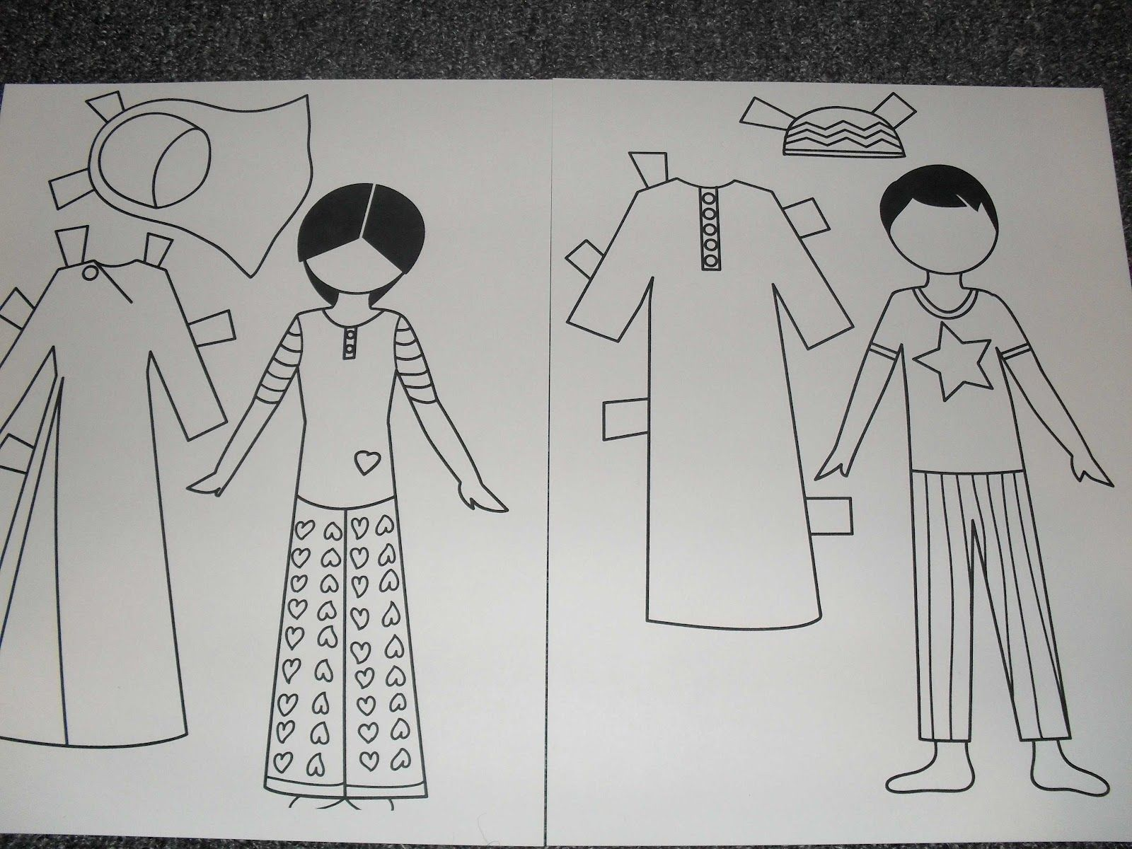 Little Muslim Paper Dolls