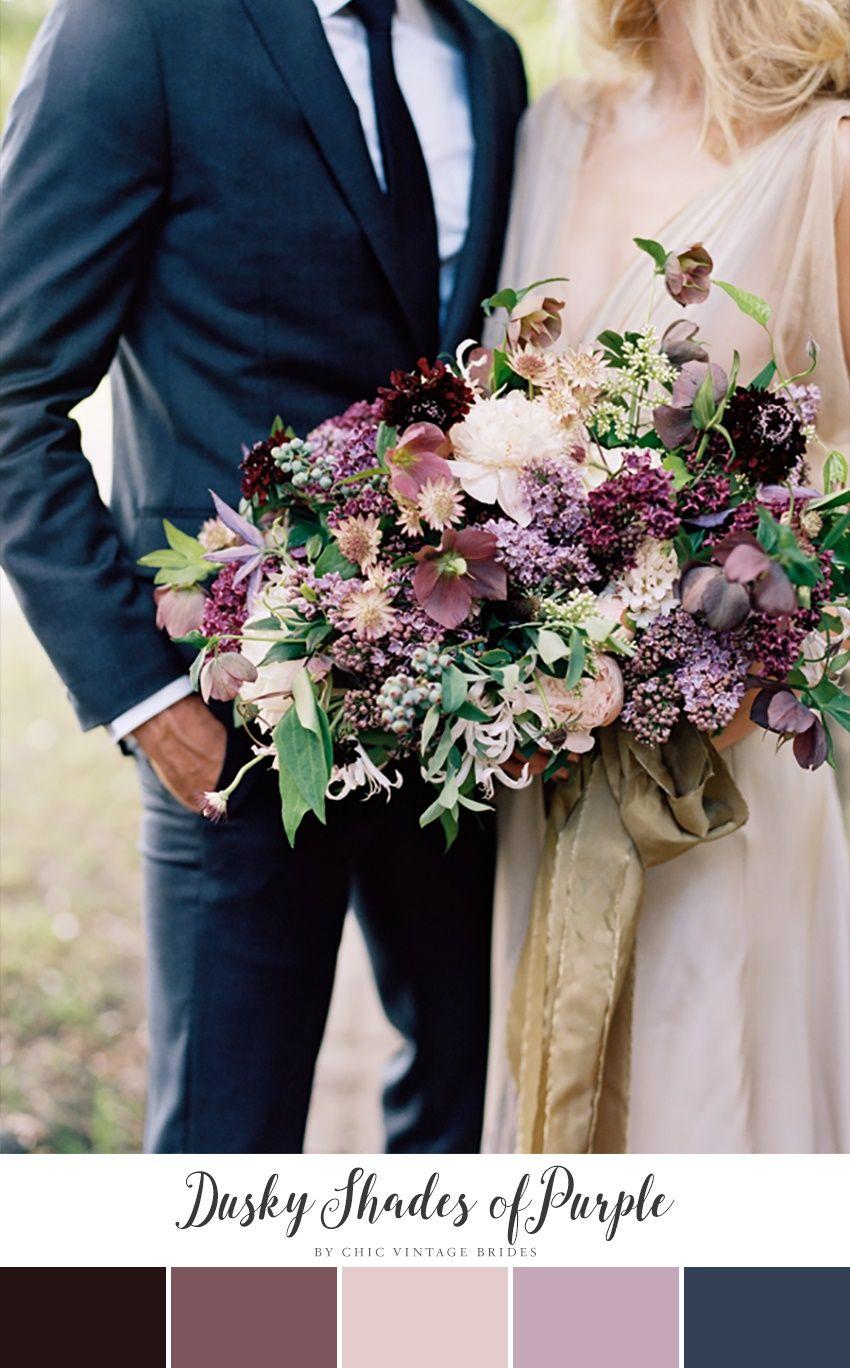 10 Stunning Autumn Wedding Colour Palettes Purple fall