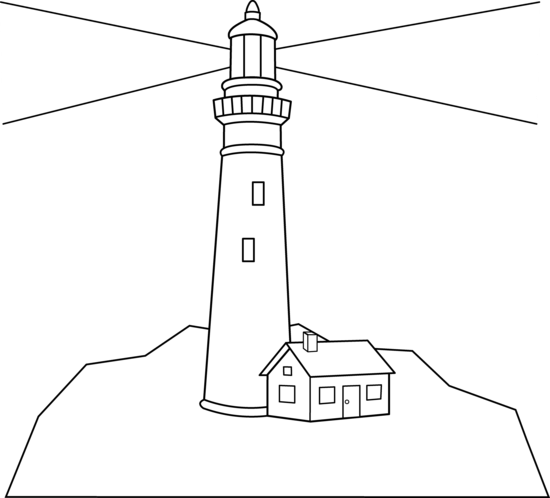 lighthouses scene and coloring pages on pinterest