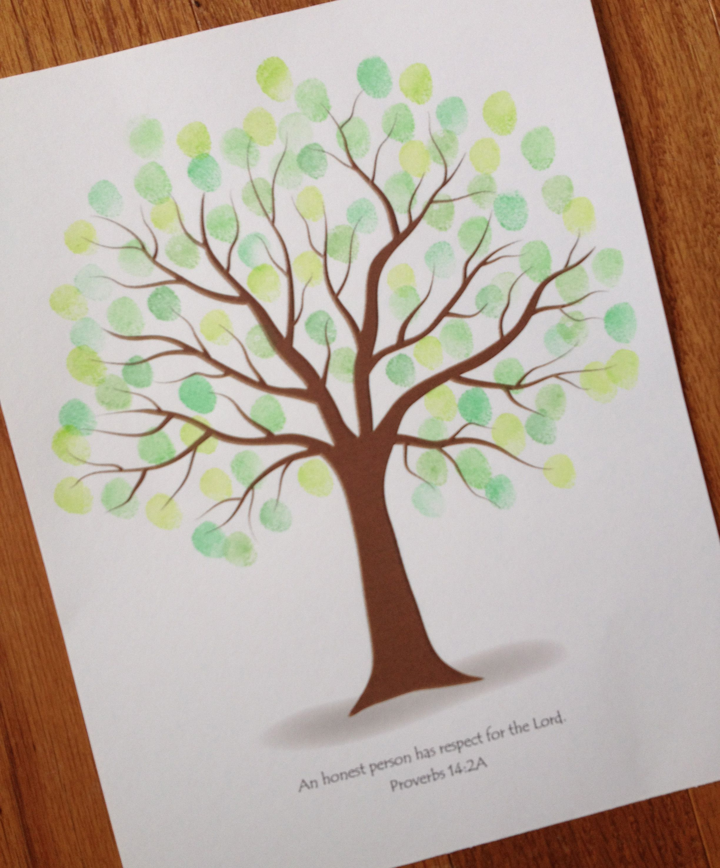 End Of Year T Customizable Fingerprint Memory Tree