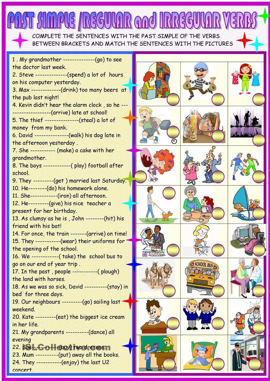 Past simple regular and irregular verbs PAST SIMPLE