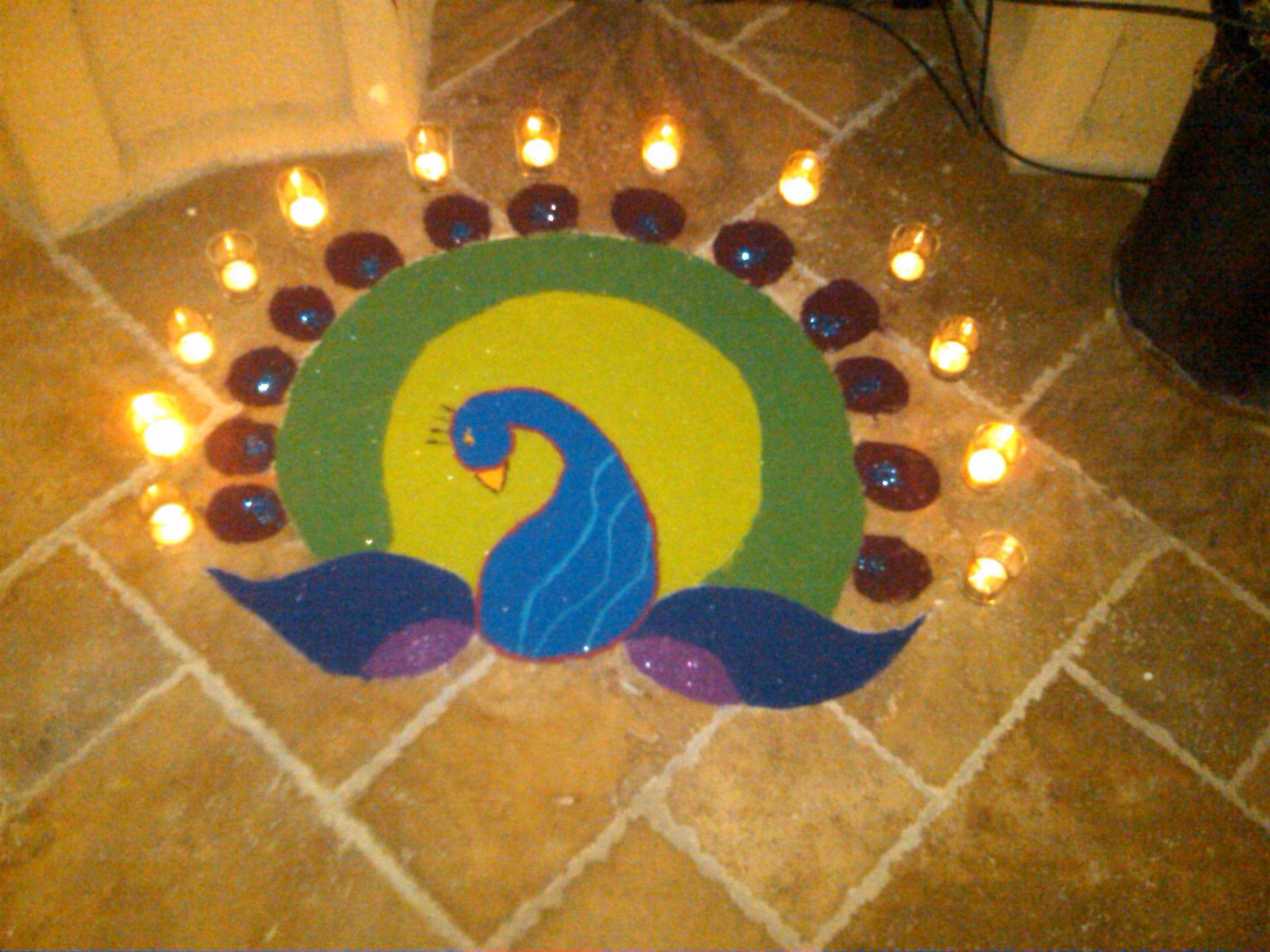 Rangoli for Diwali 2011 that I made o) Paisley love