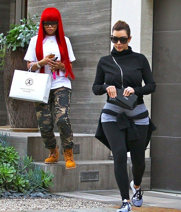 Kim Kardashian and Black Chyna Were Spied Gymming it up at
