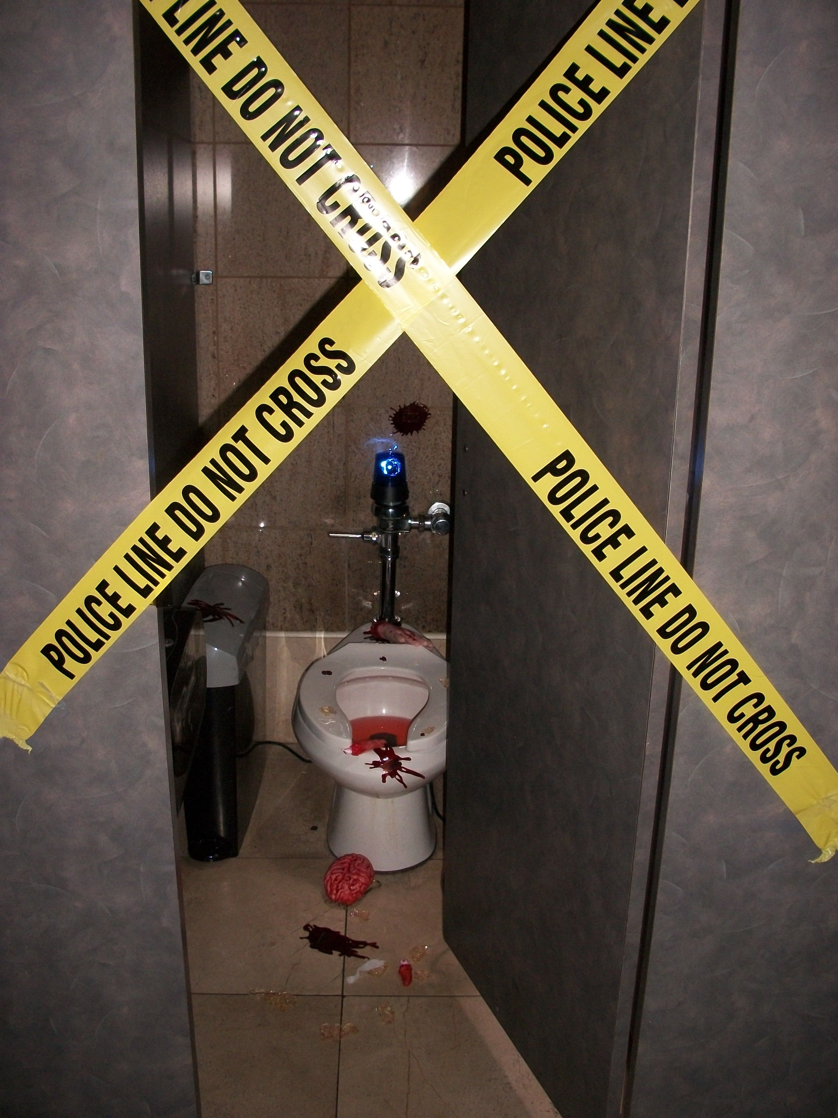Fake crime scene for Halloween Atlanta rental Halloween