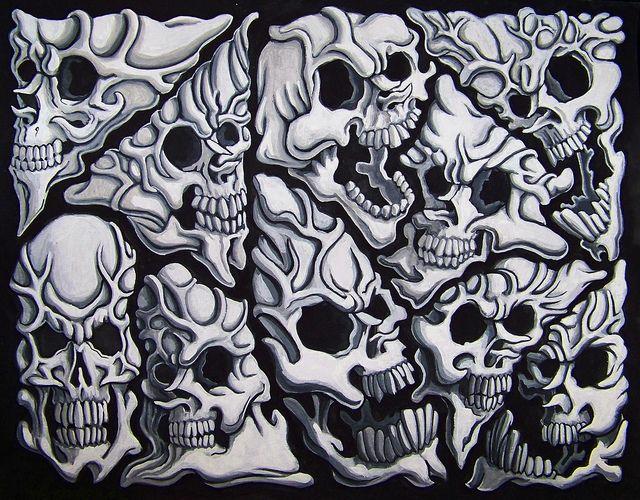 Flash Top Smoke Skulls Filler Tattoo Images For Pinterest