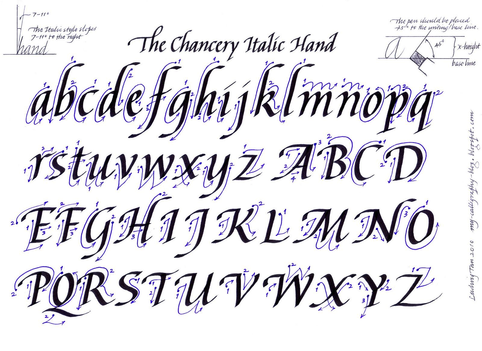 Calligraphy Practice Sheets