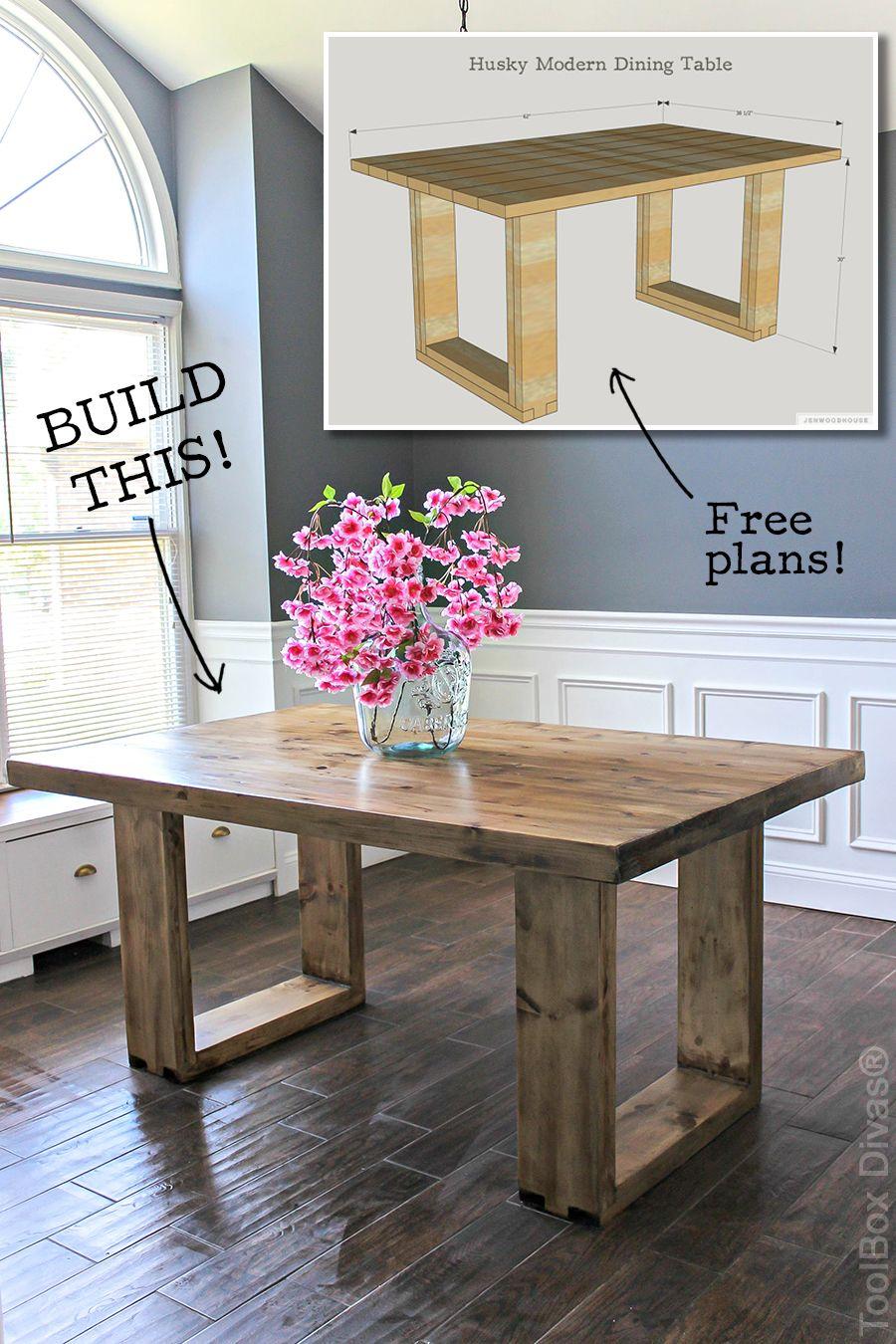 DIY Husky Modern Dining Table Modern, Free and DIY furniture