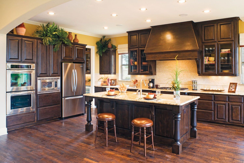 Dark Alder Kitchen Cabinets