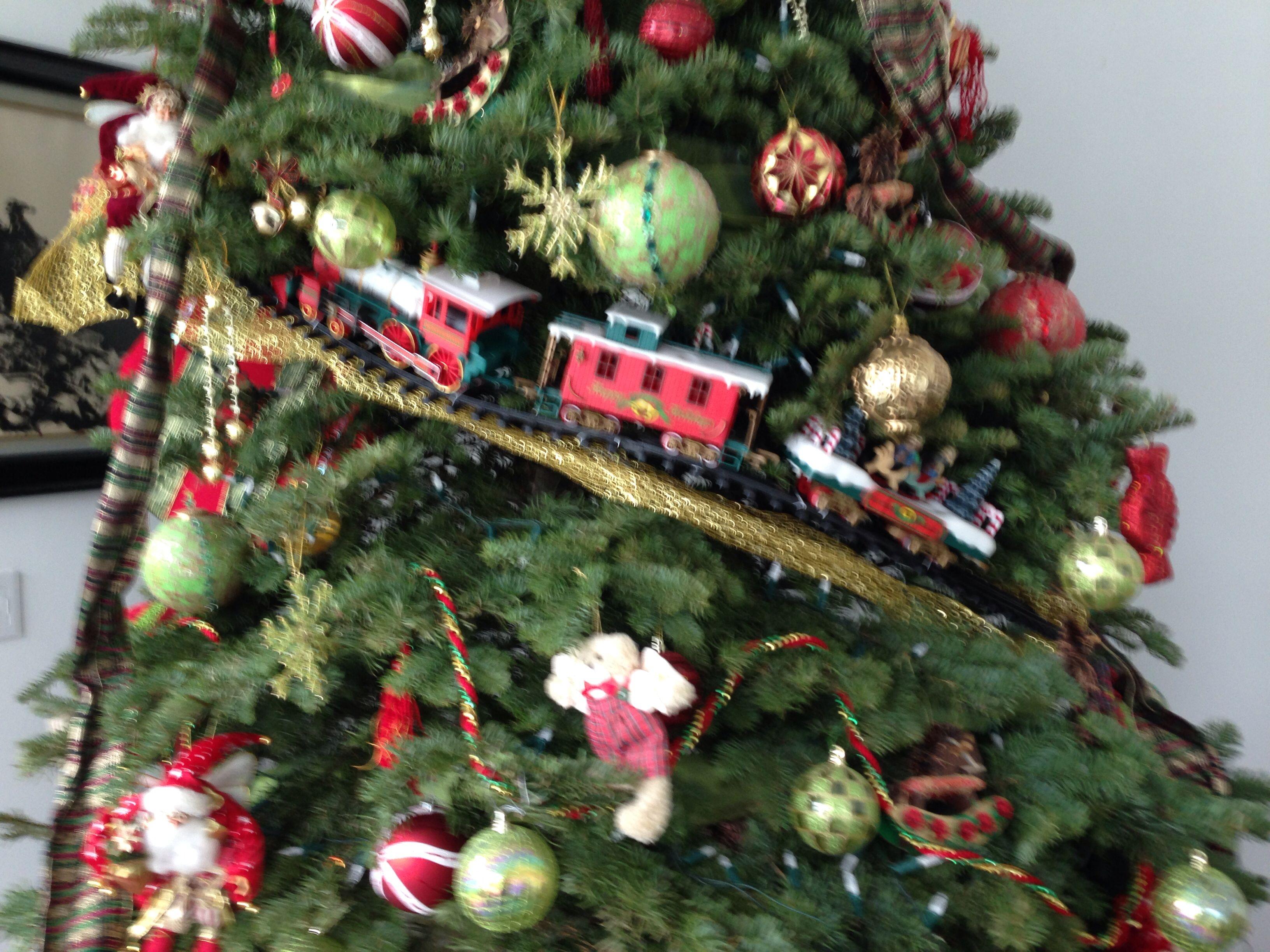 Train Christmas Tree theme Christmas Pinterest