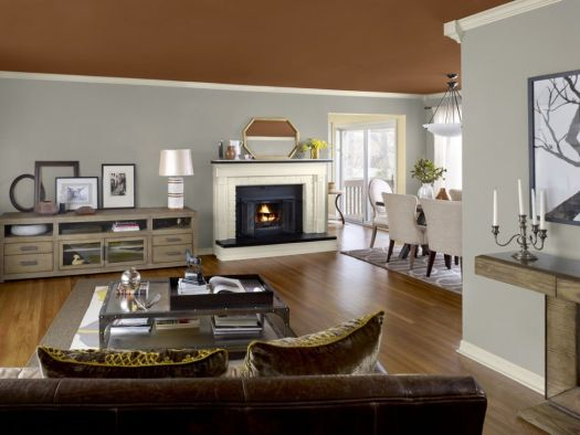 Model Homes Interior Paint Colors This Kitchen Features Benjamin Moore S Urbanite Palette With