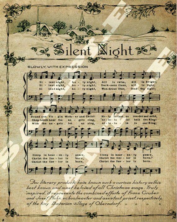Christmas Holiday Religious Silent Night Sheet Holiday