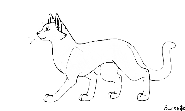 how do you draw a warrior cat Warrior Cat Template (Free