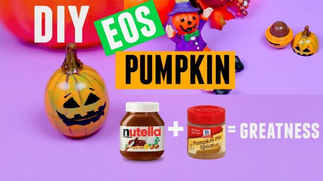 Diy nutella eos without beeswax lip balm added pumpkin