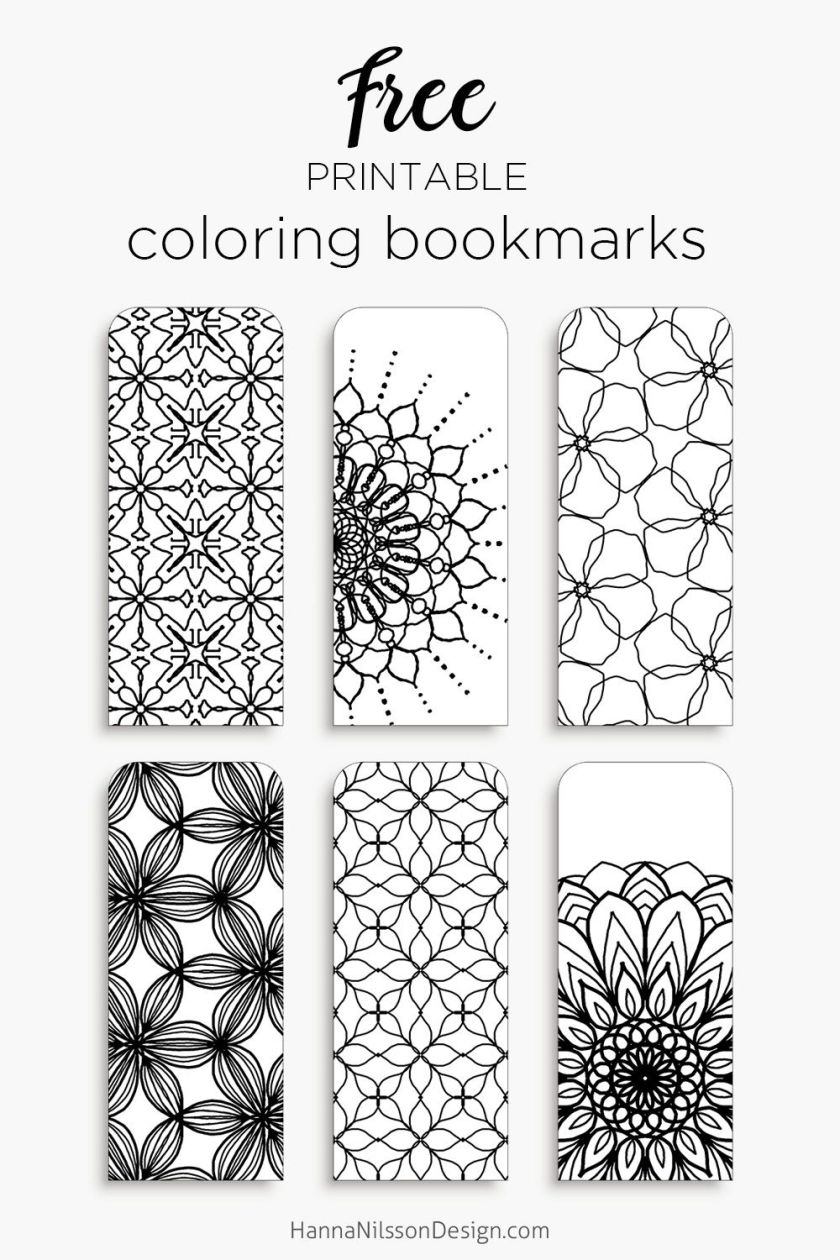 color your own bookmarks  free printable bookmarks for