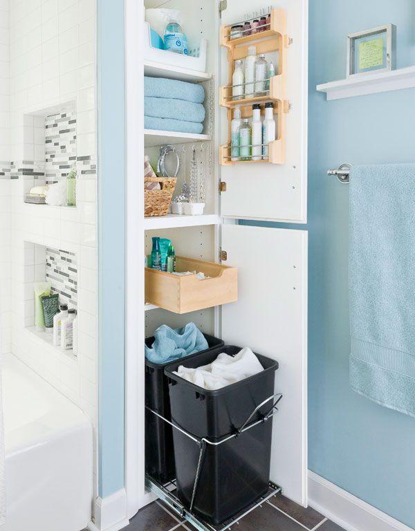 Оформление не самой большой ванной   storage, small bathroom and