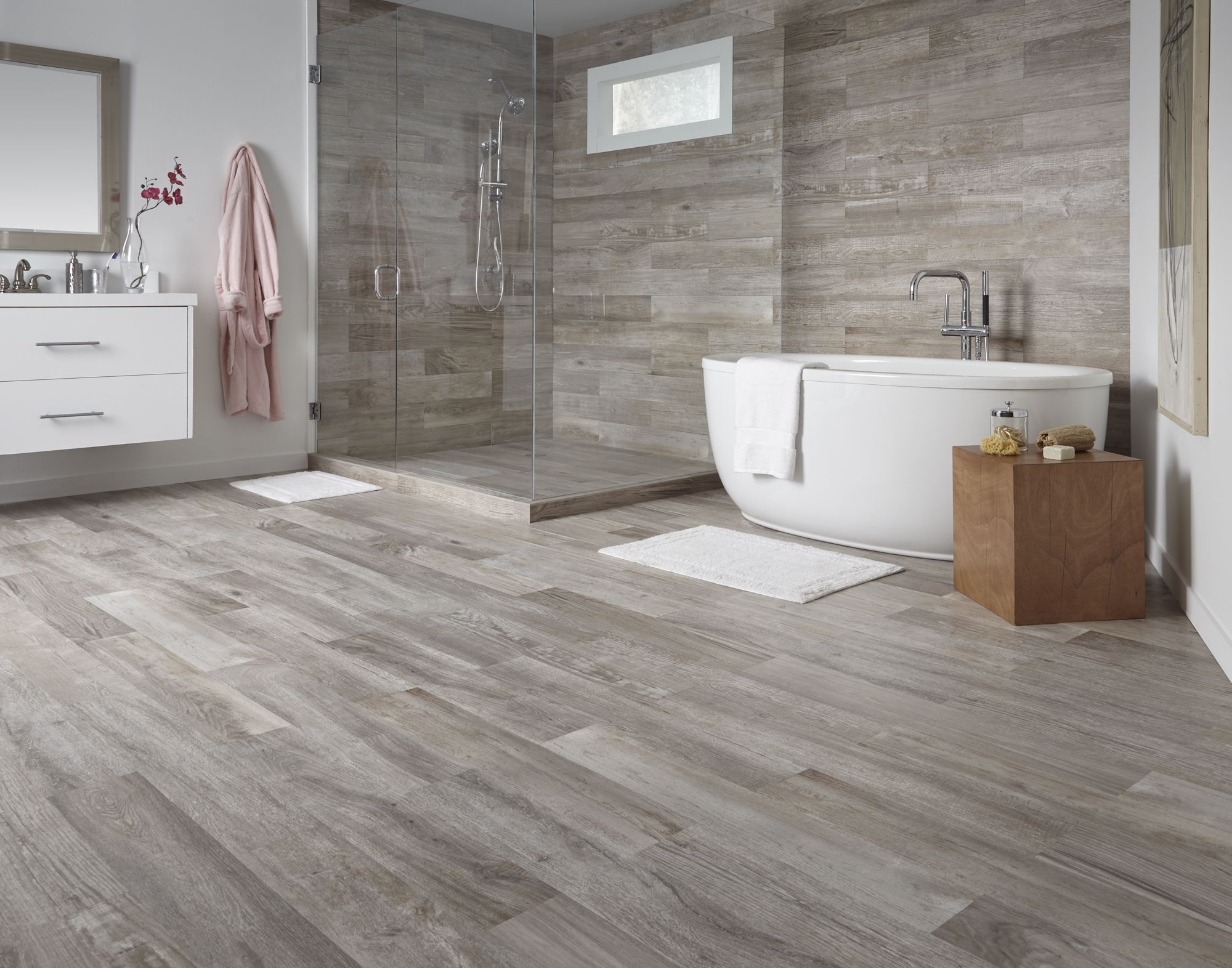 Farina Bay Oak Waterproof WoodLook Tile! Floors Wood