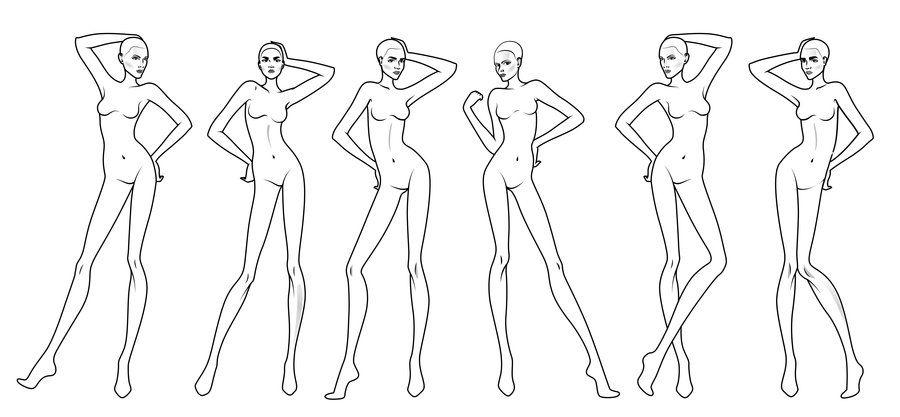 Fashion Body Templates. 6 new real body models 33 fashion figure ...