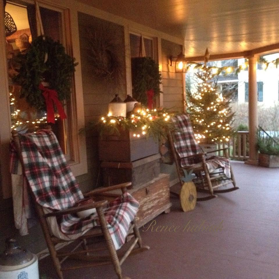 Renee Hubiak's wonderfully festive porch!! Country