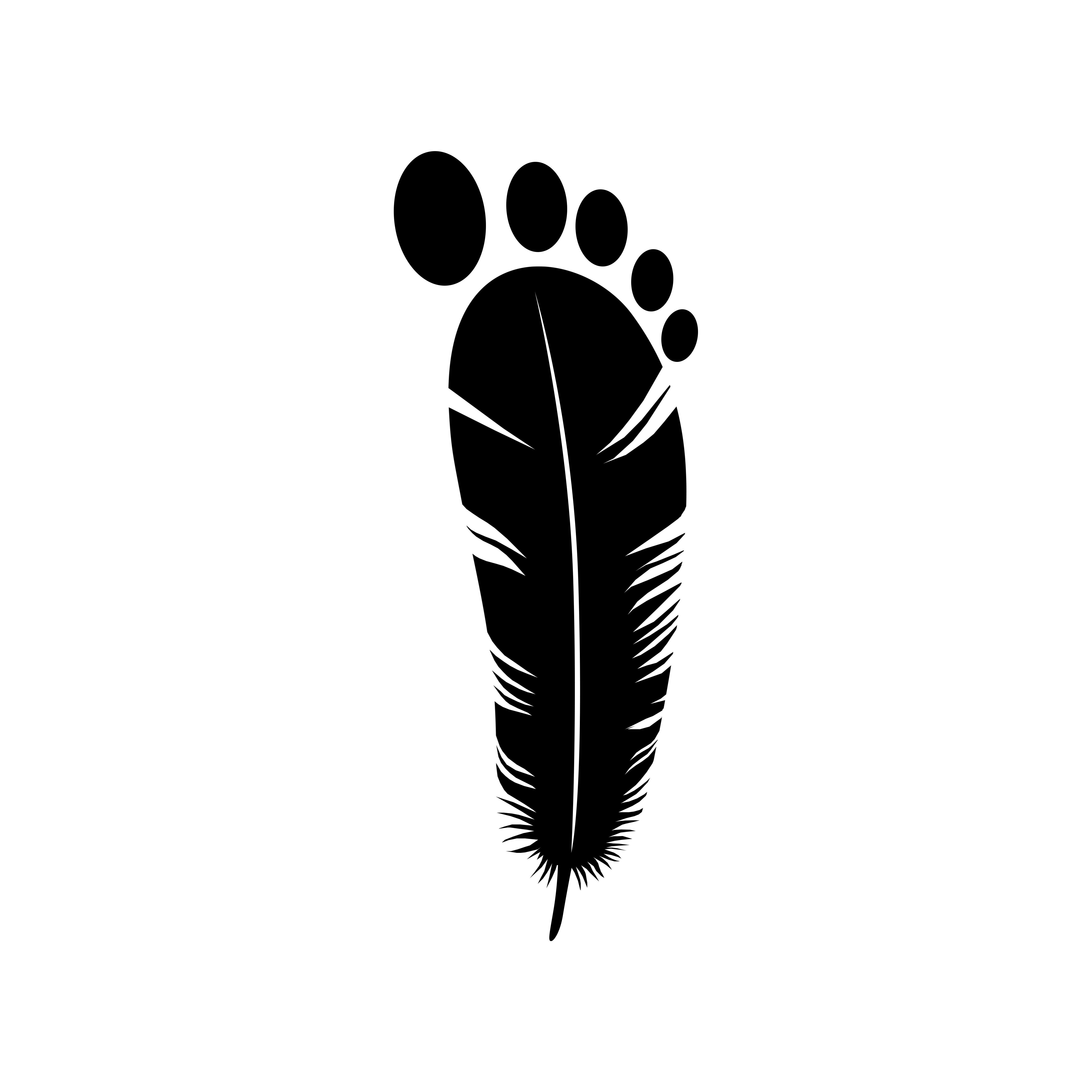 Instagram iamsufa Light foot logo design logo graphic