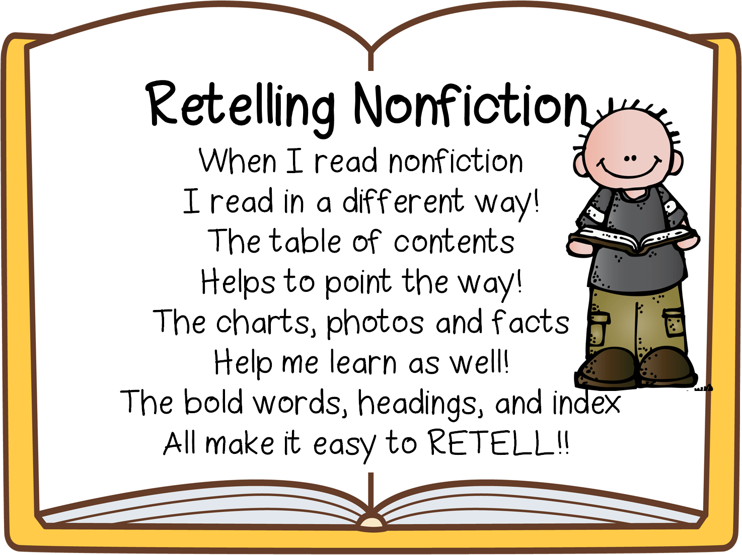 Retelling Fiction And Nonfiction First Grade Wow