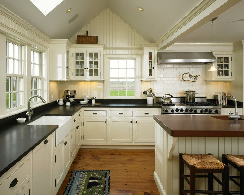 Black farmhouse sink kitchen farmhouse with large range