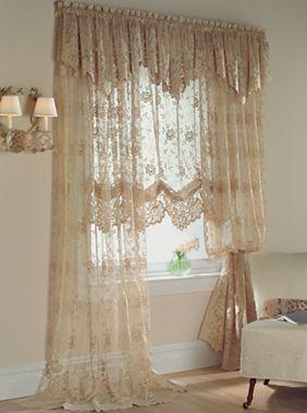 Lacey Window Treatments On Pinterest Lace Window Window
