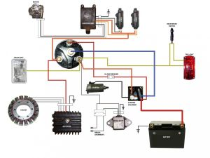 simplified wiring diagram for xs400 cafe | Motorcycle