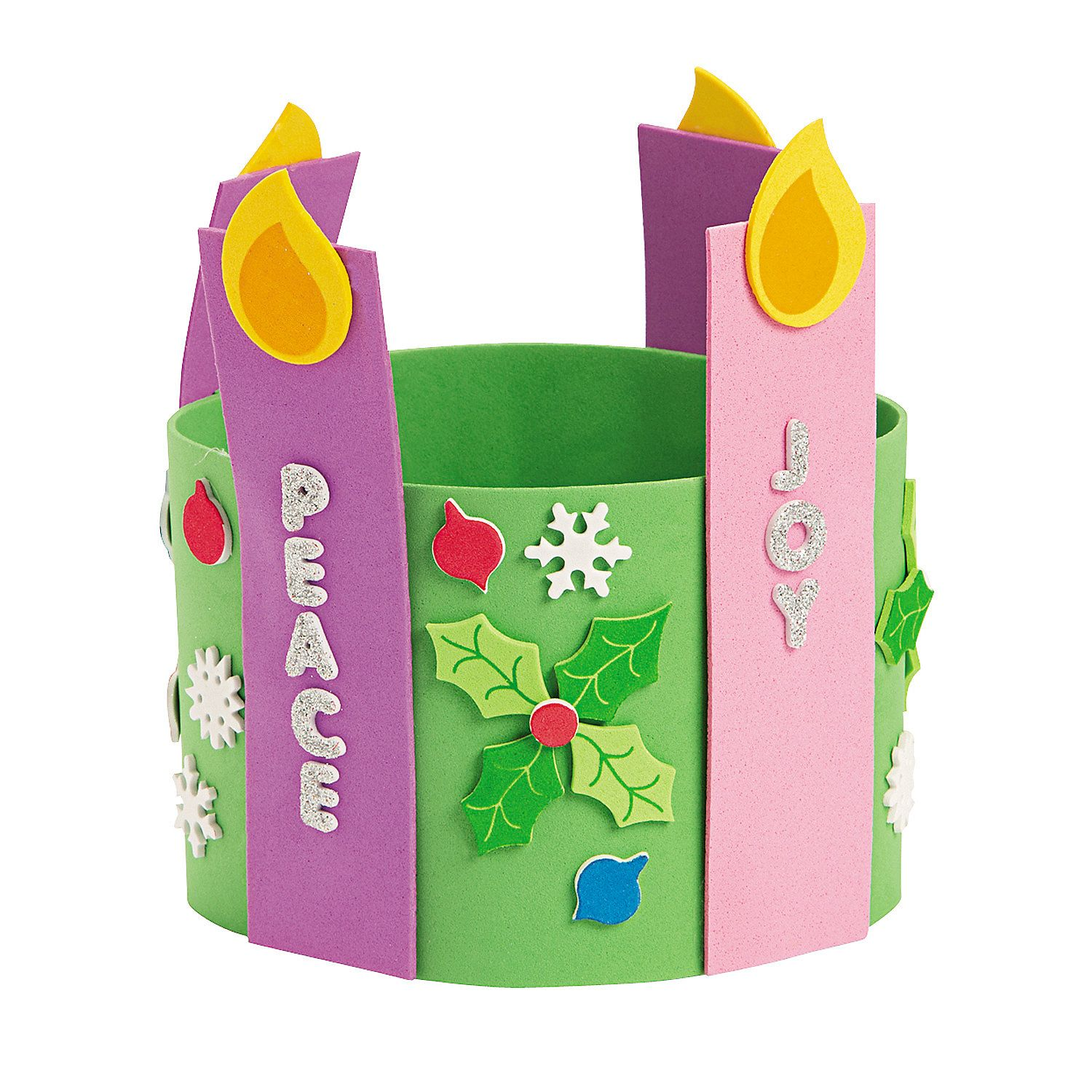 Think I Could Make Something Similar Out Of Construction Paper Advent Candle Stand Up Wreath