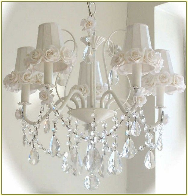 White Shabby Chic Chandeliers