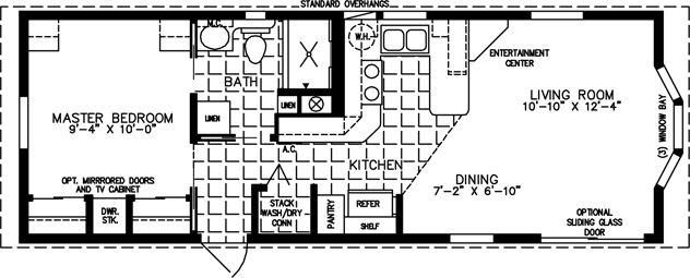 park model plans |  cottage, imc-1372 – park model home floor