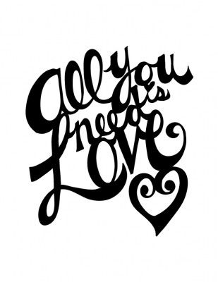 Download All You Need Is Love, #free #cutter file for Silhouette ...