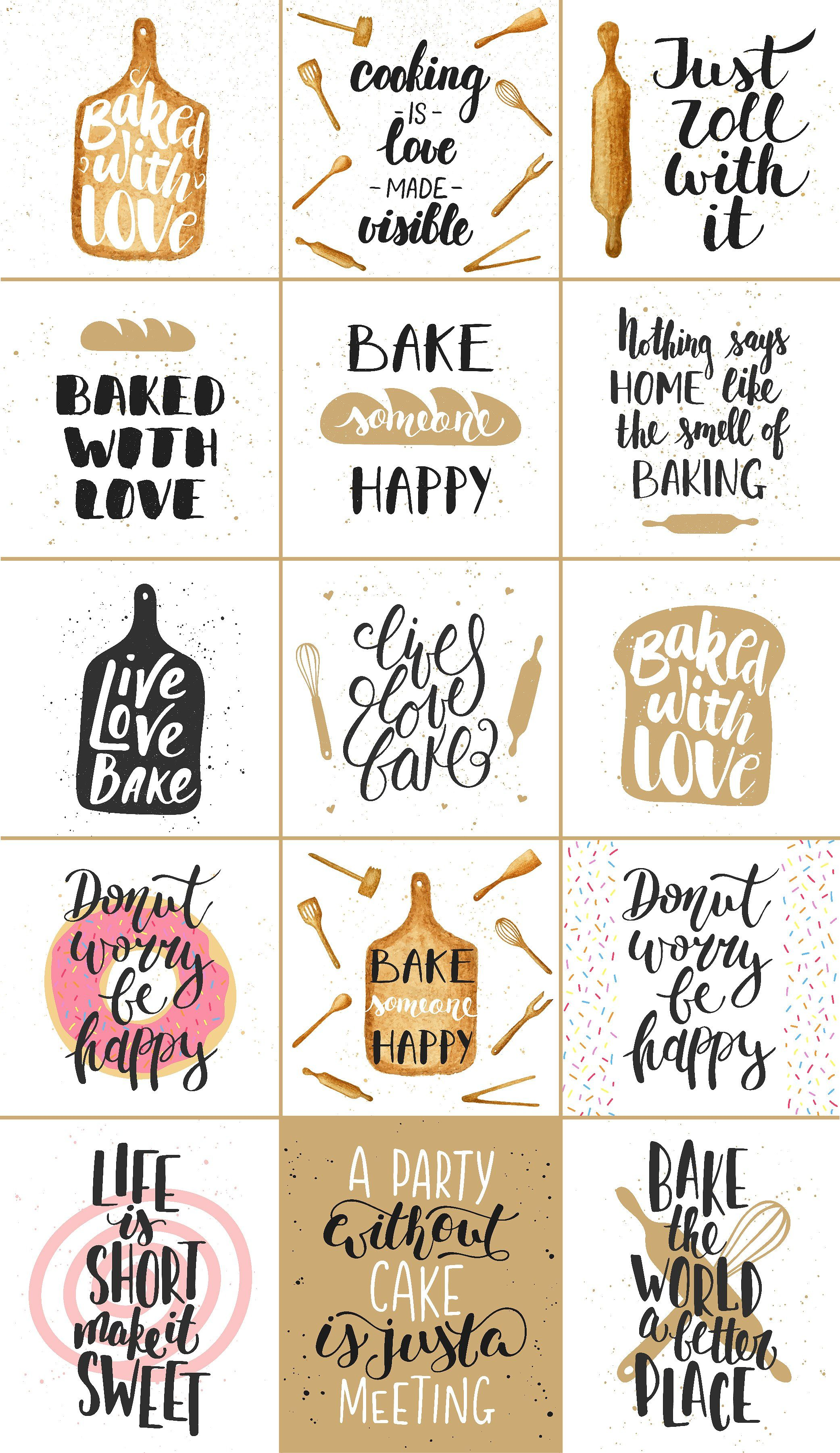 Bakery quotes and posters by Akimo Mia on creativemarket
