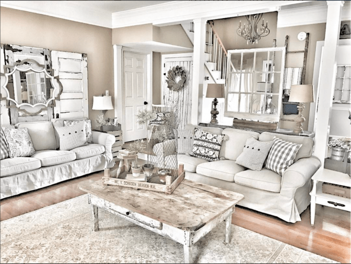 A Layered Farmhouse Living Room from Bless This