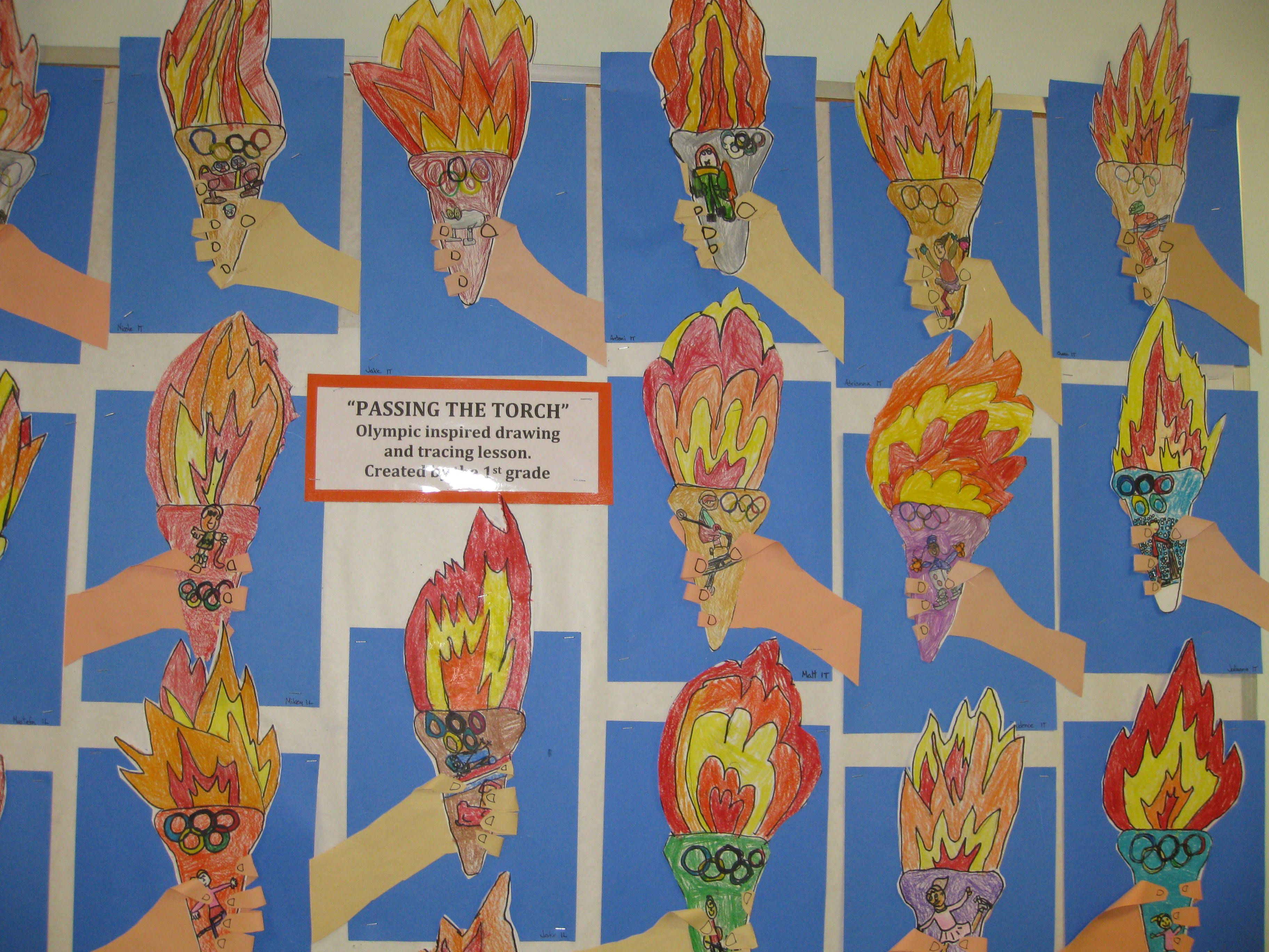 Passing The Olympic Torch Gr 1 Hand Tracing And