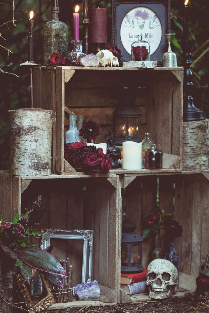Voodoo and Pagan Witch Wedding Shoot wedding Pinterest