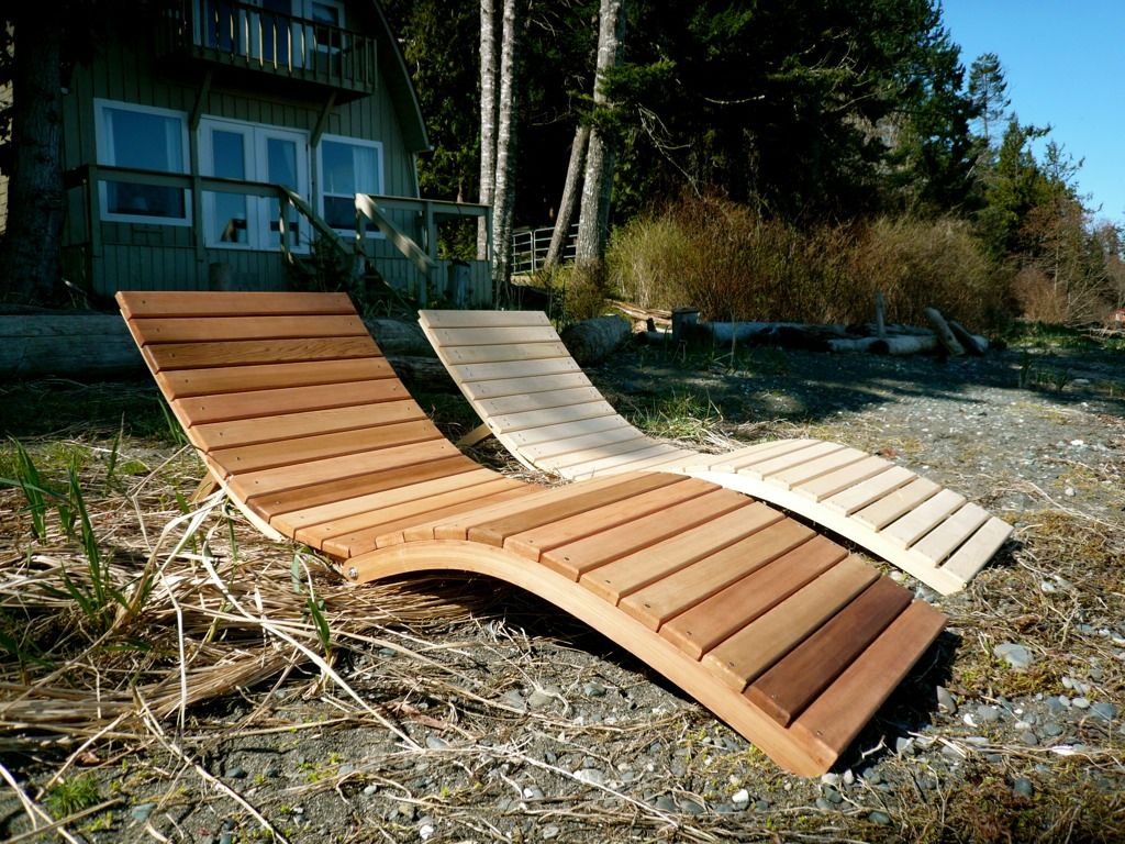 Foldable S Lounger by Bent Woodwork Furniture