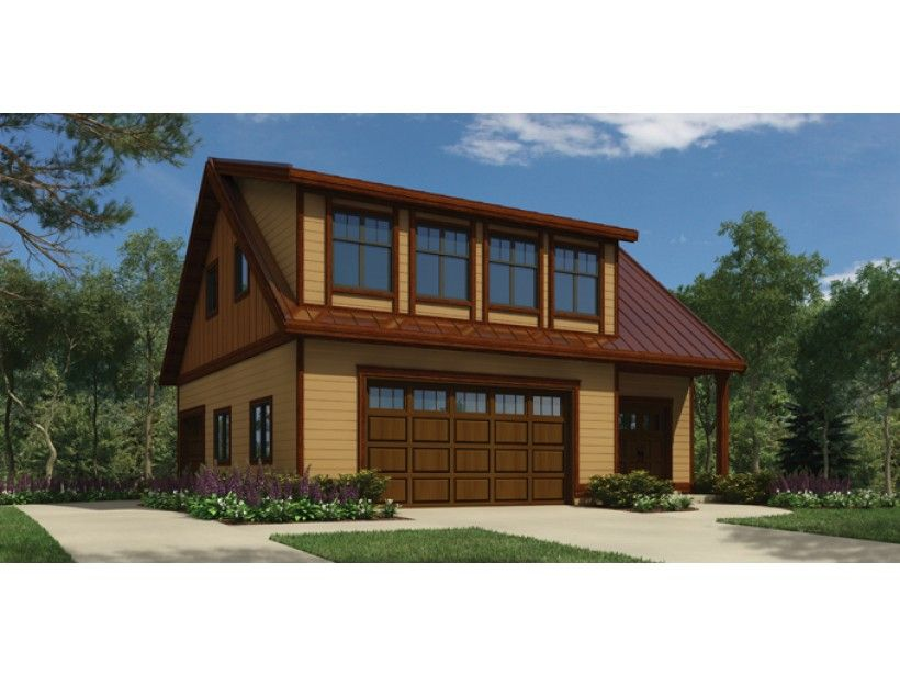 Very Uniquely Laid Out 3 Car Garage Plan With Separate 1