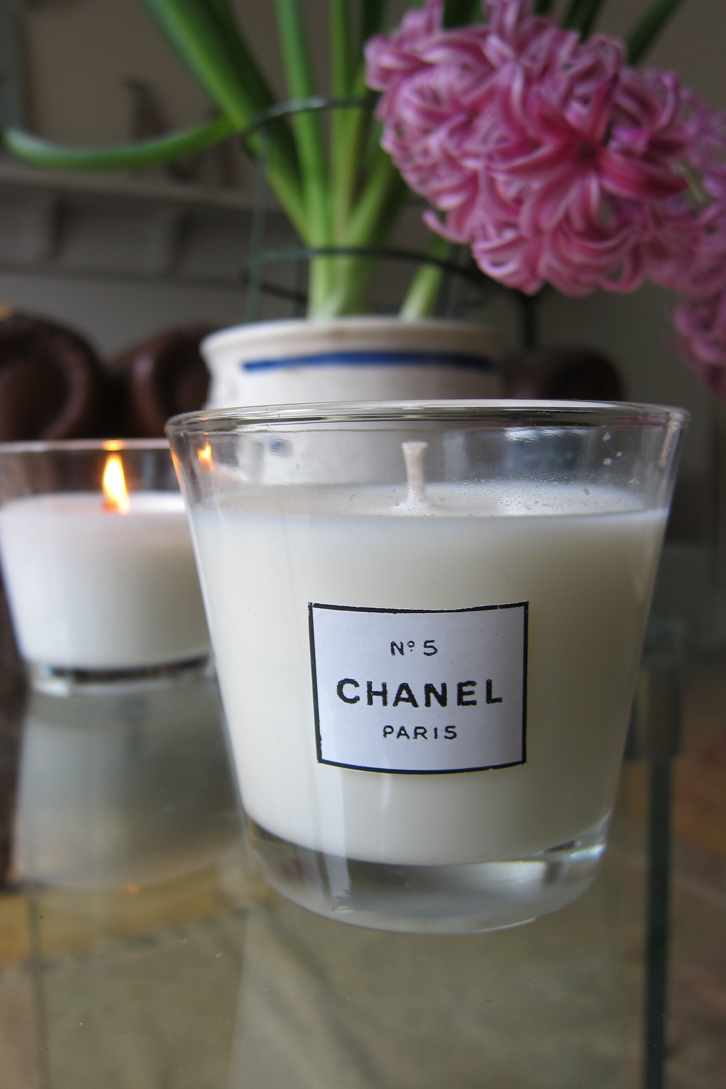 DIY candles I made my own, including one with Chanel No