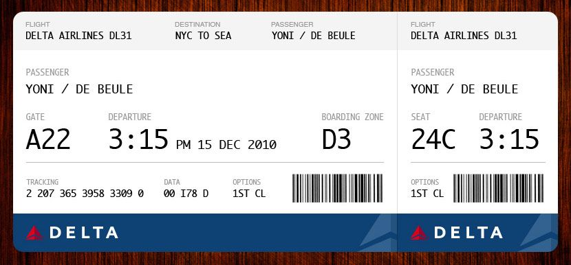 Airplane Ticket Template vectored illustration for company or – Plane Ticket Template