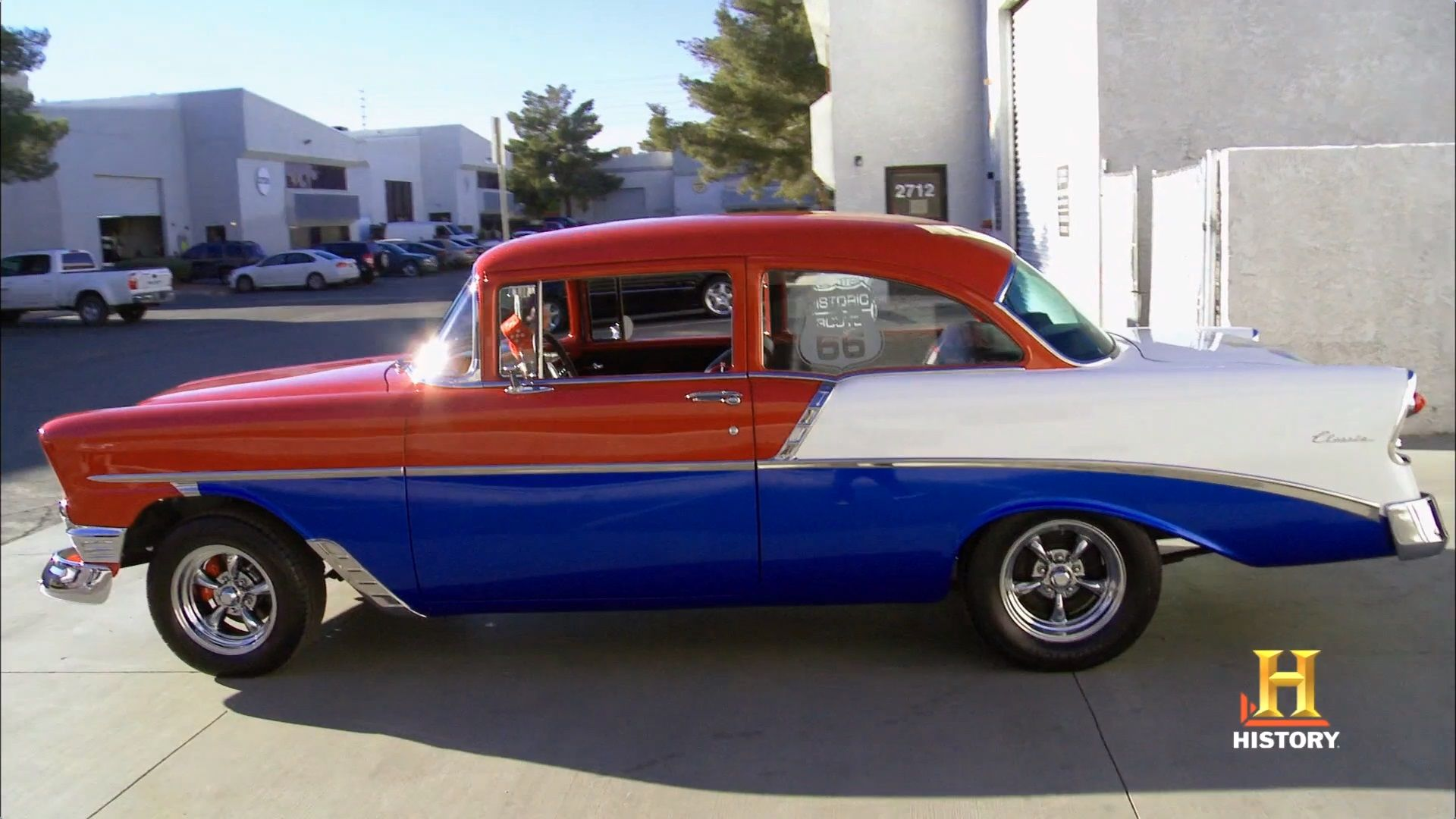 56 Chevy Route 66 theme Counts Kustoms on Counting Cars