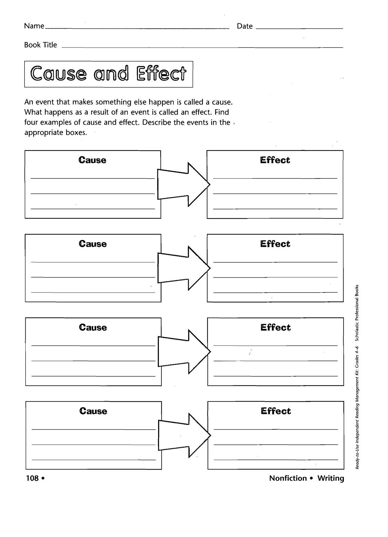 Cause And Effect Worksheet For Preschool